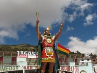 Une statue d'un dirigeant Inca
